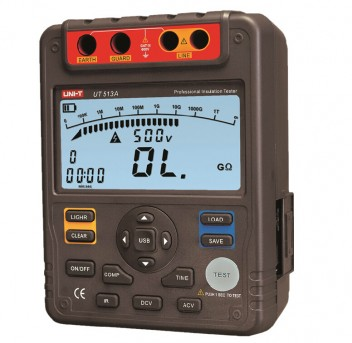 UNI-T UT513A Insulation Resistance Tester Meter + AC ADAPTOR