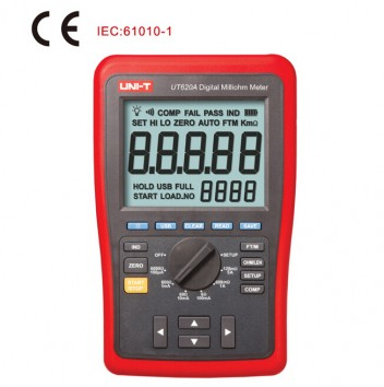 UNI-T UT620A High-Accuracy 0.25% Kelvin Four-wire Low Resistance & Wire Length Tester Micro Ohm Meter USB Lithium Battery